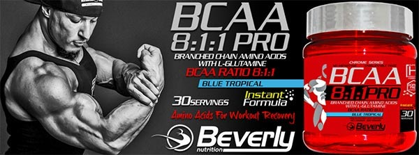 Bcaa 8:1:1 PRO 300 gr Beverly Nutrition