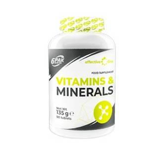 Vitamin & Minerals 90 cps 6PAK Nutrition