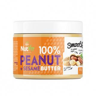 100% Peanut + Sesame Butter 500gr NutVit